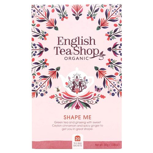 Чай зеленый English Tea Shop Organic Shape Me в пакетиках 1,5 г х 20 шт