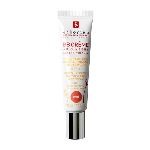 Erborian BB Cream Au Ginseng Makeup-Care Face Cream 5-in-1 SPF 20 Travel Size