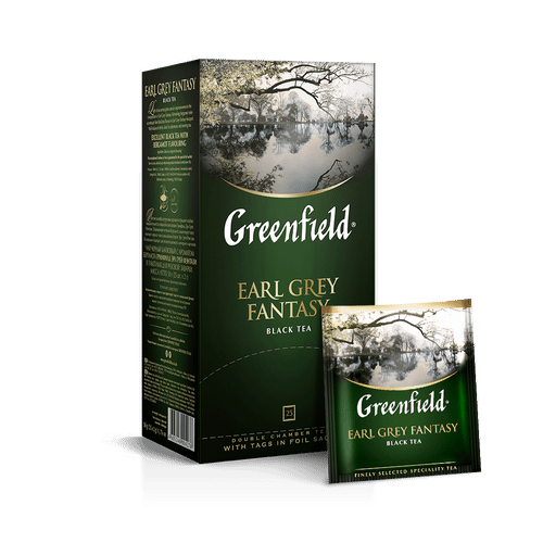 Чай черный Greenfield Earl Grey Fantasy в пакетиках 2 г 25 шт